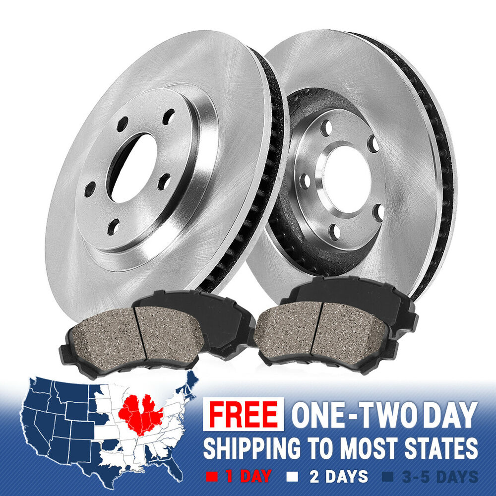 Front Oe Brake Rotors And Ceramic Pads 2013 2014 Ford Fusion Lincoln Mkz Hybrid Ebay