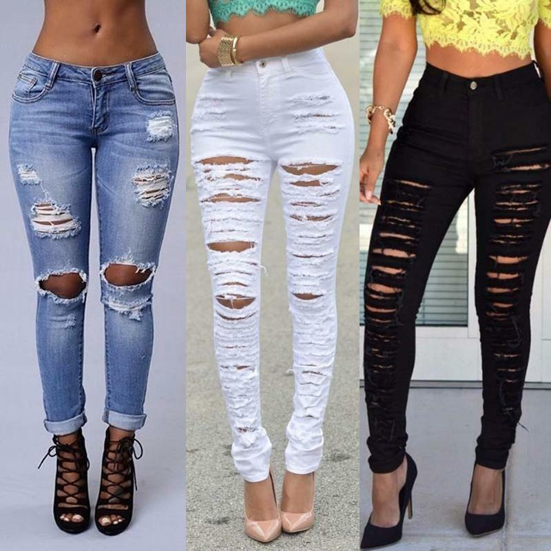 Cool Hair Styles Womens Ripped Jeans