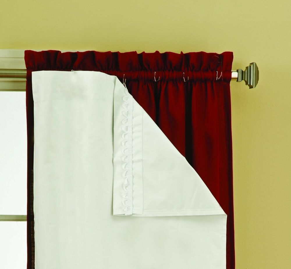 thermaliner blackout panel pair white curtain liners 54 x 60 noise