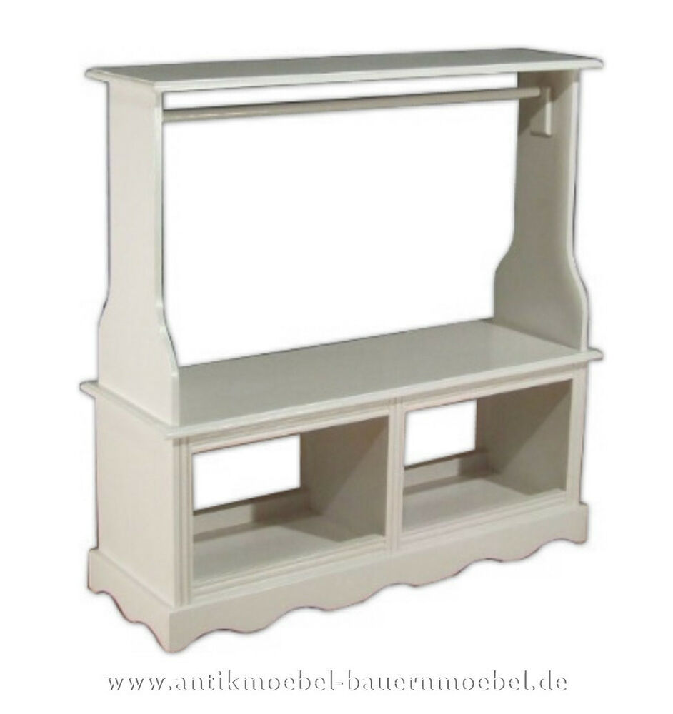 garderobe wandgarderobe raumteiler weichholz holz landhausstil bauernm bel wei ebay. Black Bedroom Furniture Sets. Home Design Ideas