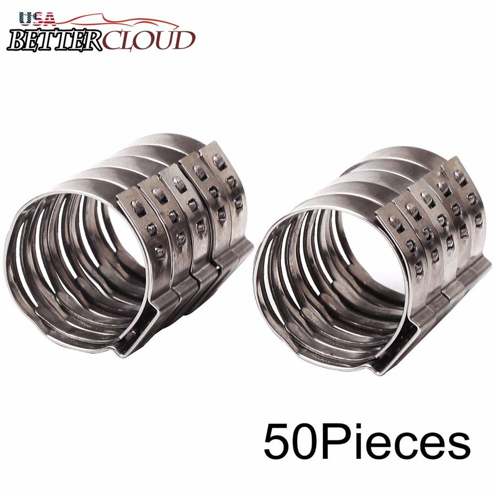 Quot stainless steel ear pex clamp cinch rings crimp pinch