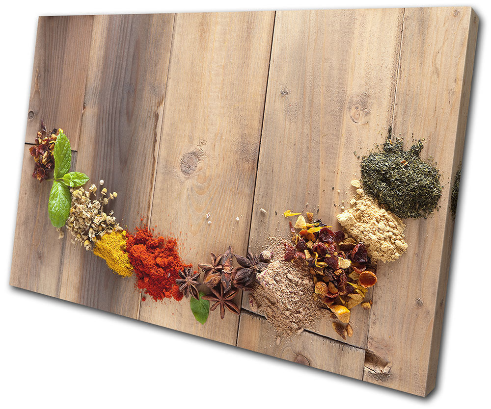 Spices Indian Food Kitchen SINGLE CANVAS WALL ART Picture