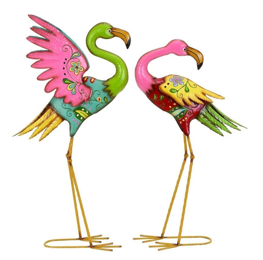 Garden Statues And Sculptures Pink Flamingo Lawn Ornaments