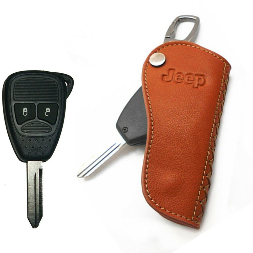 Lj2 Leather Car Remote Flip Key Fob Case Holder Cover Fit