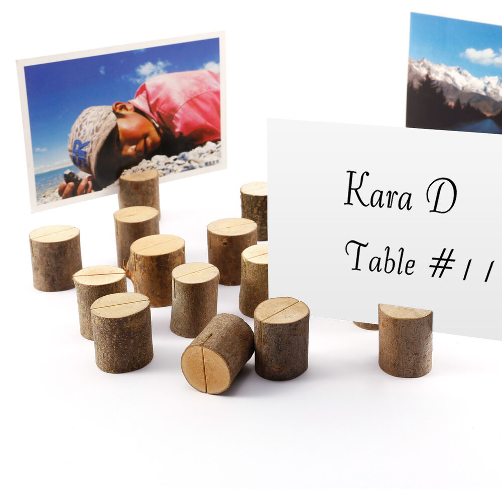 Rustic Wooden Wedding Decor Venue Name Place Card Holders