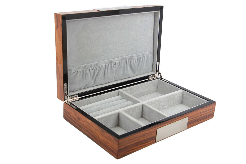Exqusite high glossy cufflink case ring storage for Men s jewelry box for watches and cufflinks
