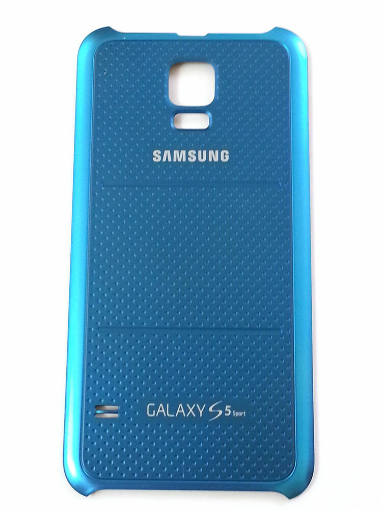 oem new blue samsung galaxy s5 sport back cover battery. Black Bedroom Furniture Sets. Home Design Ideas