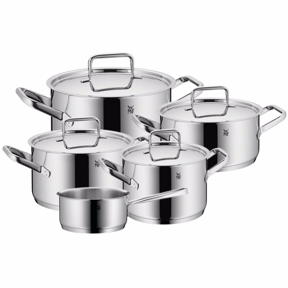 wmf trend plus 9 piece cookware set made in germany ebay. Black Bedroom Furniture Sets. Home Design Ideas