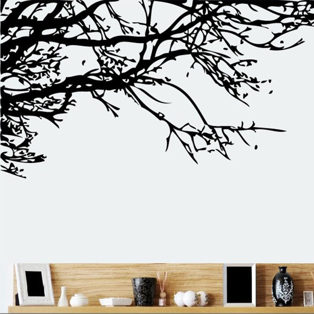 HOT Large Tree Branch Art Wall Stickers Mural Decal Room