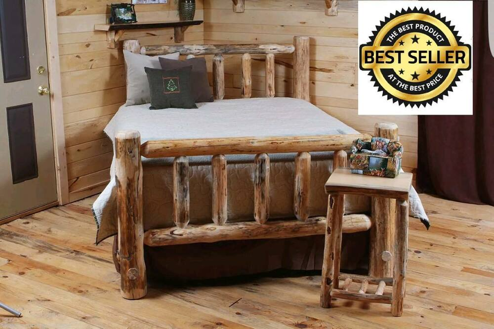 Rustic Log Bed Log Bedroom Furniture Rustic Decor Cabin Or Home Free Shi
