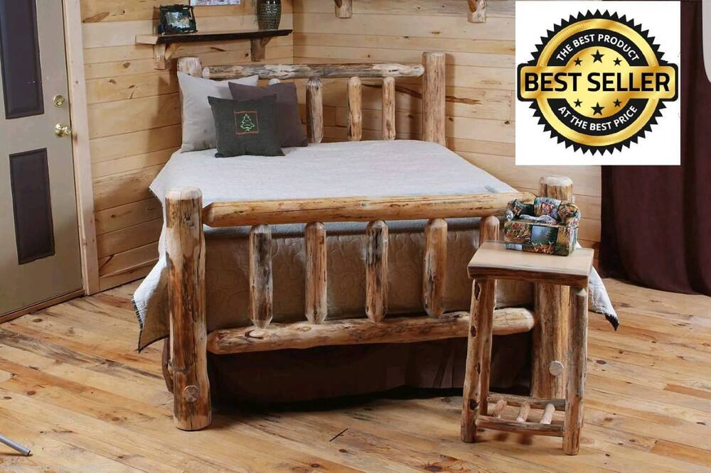 Rustic Log Bed Log Bedroom Furniture Rustic Decor Cabin Or Home Free Ship Ebay