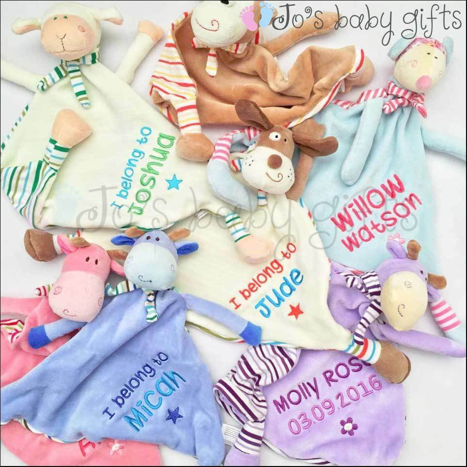 Quality Baby Gifts Uk : Personalised baby cubbie comforter blankie blanket gift