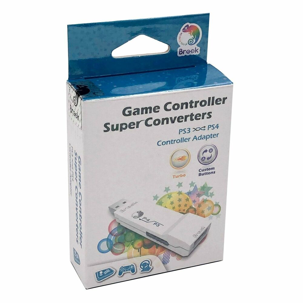 3707ab228e9 Details about Brook Cross Platform PS3 to PS4 Gaming Converter Controller Adapter  White