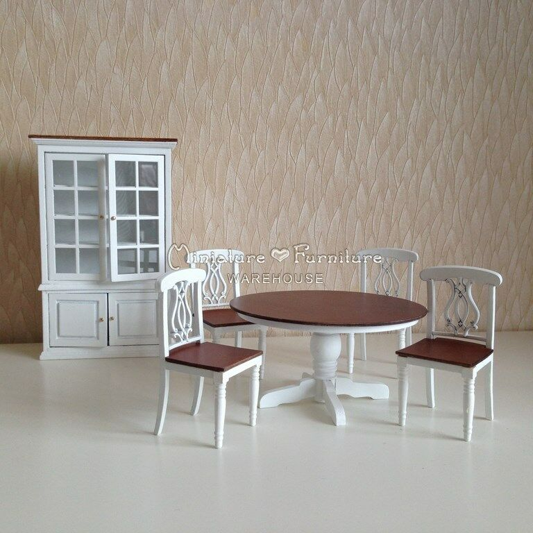 Dining Room Set For 12: Sale 1:12 Dollhouse Miniature Furniture Handcrafted White
