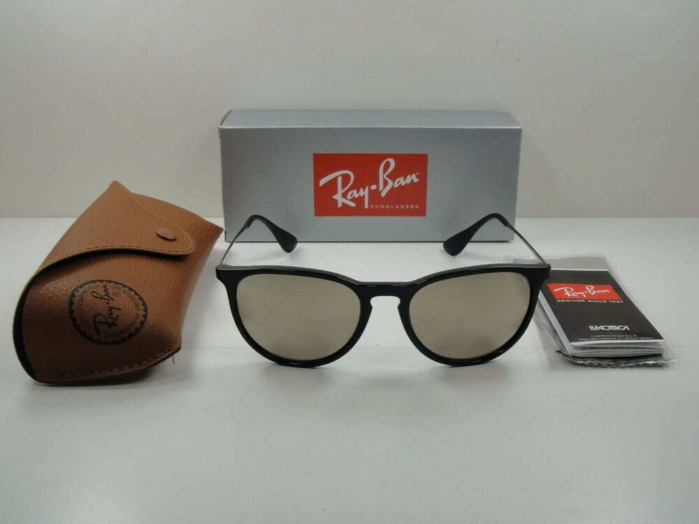 052192e060d Details about RAY-BAN ERIKA SUNGLASSES RB4171 601 5A BLACK FRAME GOLD  MIRROR LENS 54MM