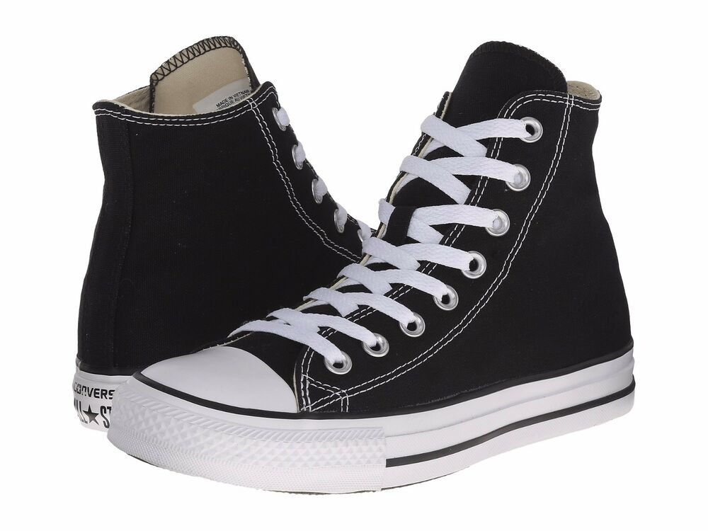 d8097381305c Details about NEW MEN WOMEN CONVERSE CHUCK TAYLOR ALL STAR BLACK WHITE HI  M9160 ORIGINAL