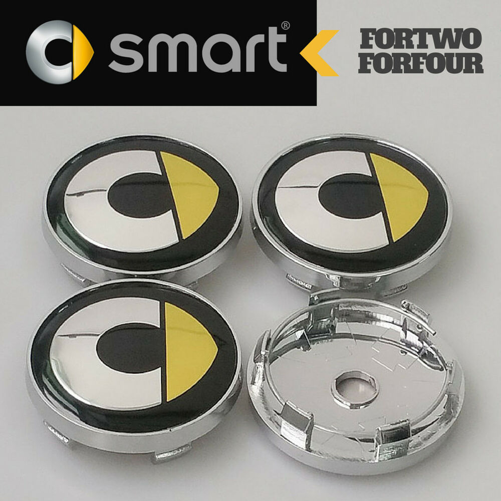 4 pcs smart forfour wheel center hub cap caps 60mm for. Black Bedroom Furniture Sets. Home Design Ideas