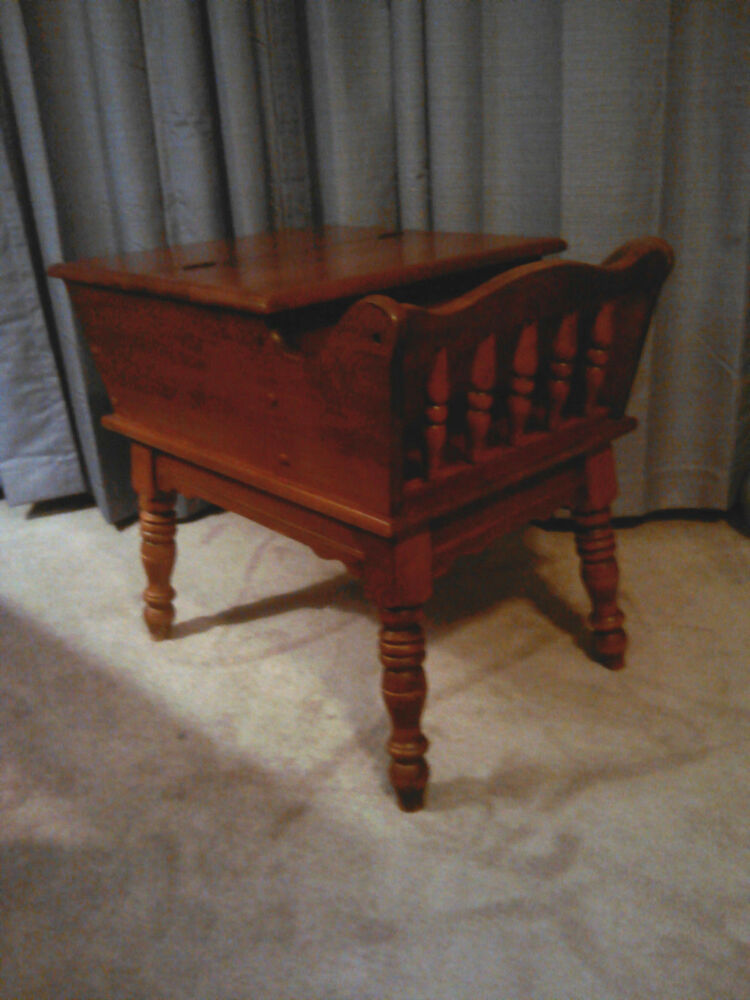 Vintage Heywood Wakefield Dough Box Style End Table With