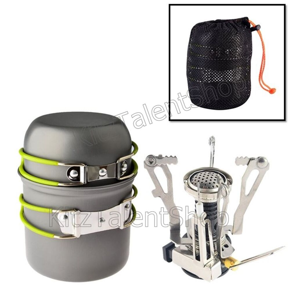 Portable Camping Propane Gas Stove Outdoor Hiking Cookware