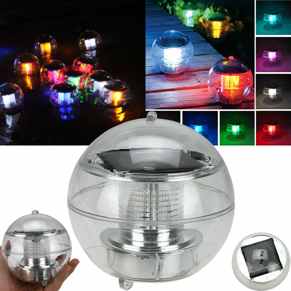 Led Light Solar Power Swimming Pool Automatical Color Changing Floating Ball Usa Ebay