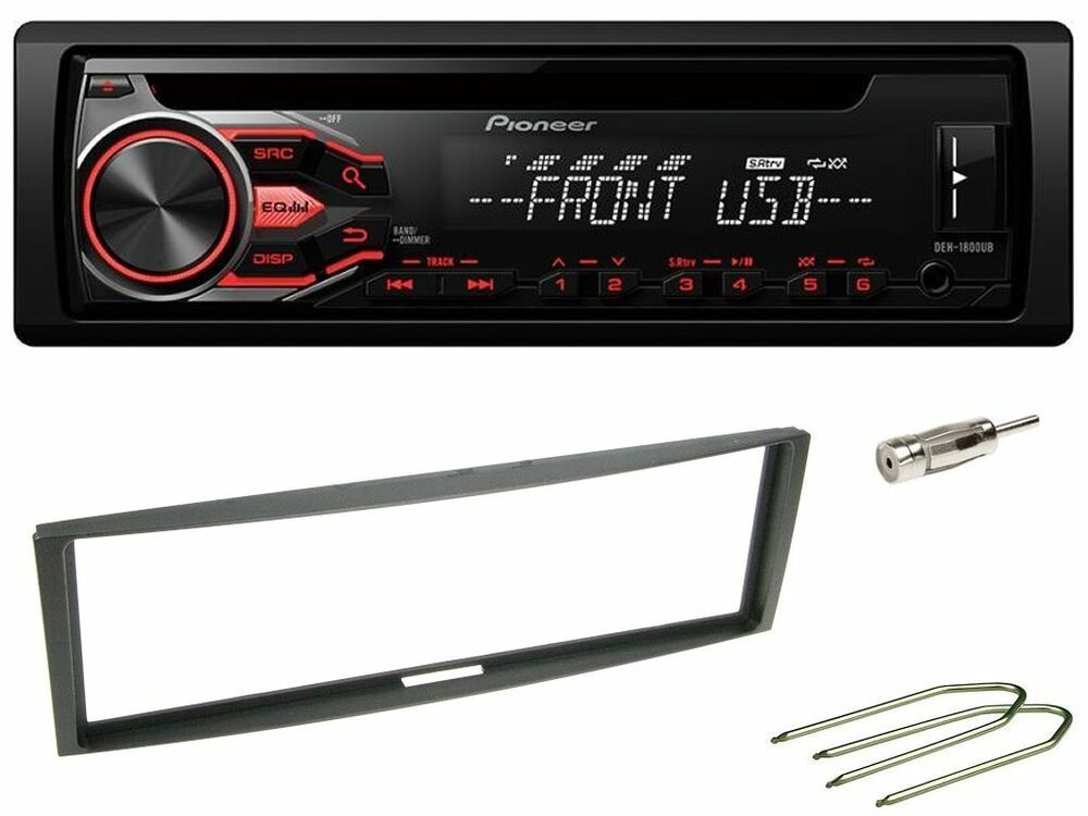 pioneer deh s100ub autoradio cd usb kit montaggio per renault clio 2 modus ebay. Black Bedroom Furniture Sets. Home Design Ideas