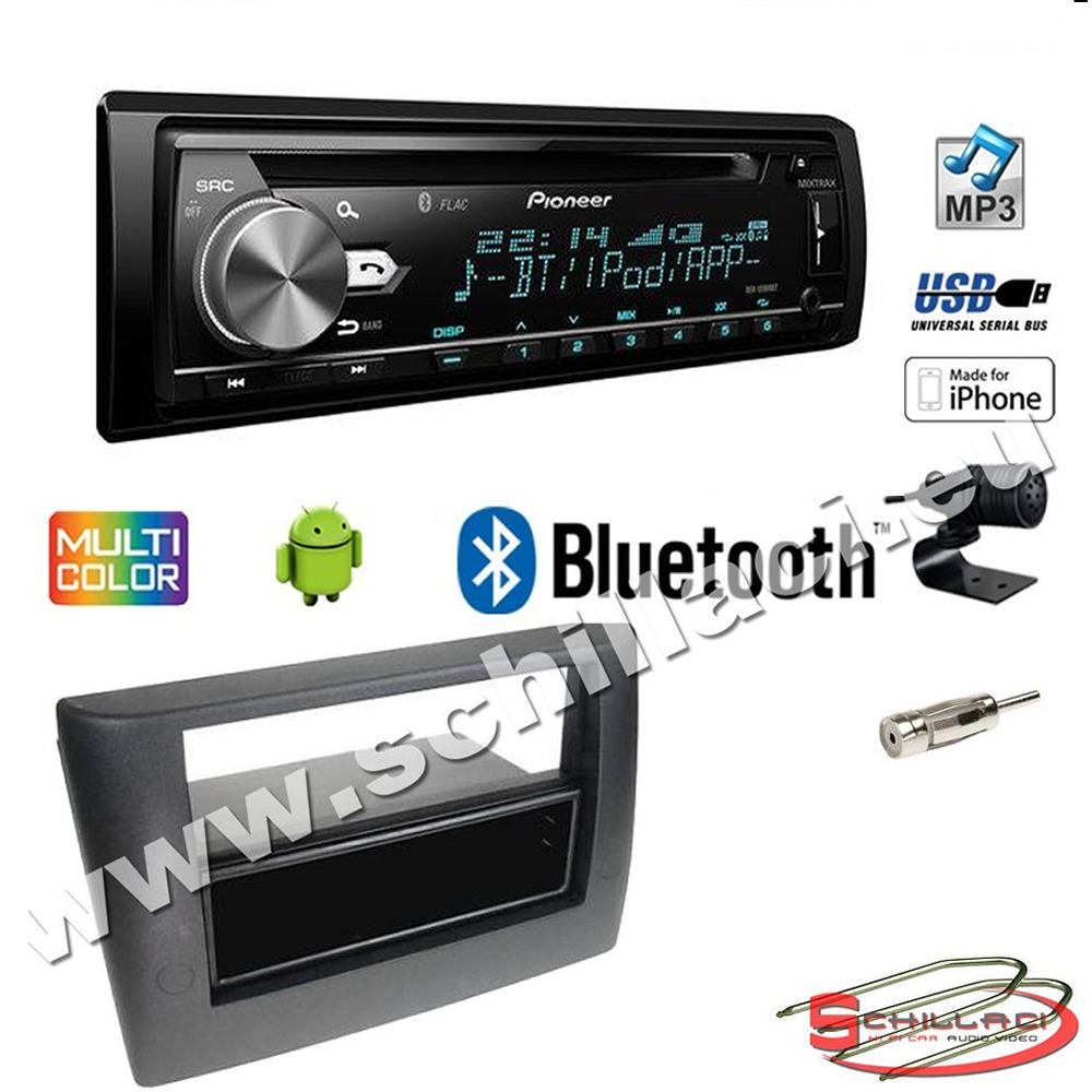 pioneer deh x5900bt autoradio cd usb kit montaggio per fiat stilo ebay. Black Bedroom Furniture Sets. Home Design Ideas
