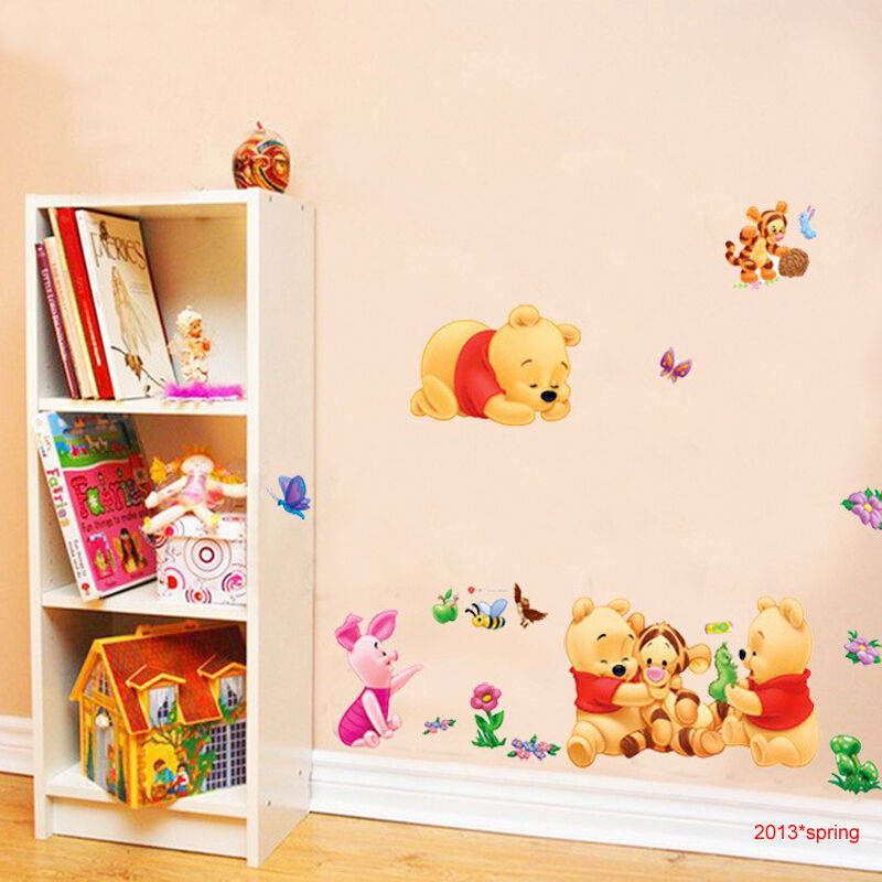 Winnie the pooh and friends wall sticker for kids room for Baby room sticker decoration