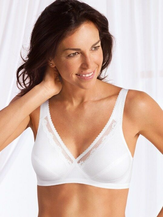 41bd98ba29 Playtex Classic Cotton Non-Wired Cross Your Heart Bra (4771) White ...