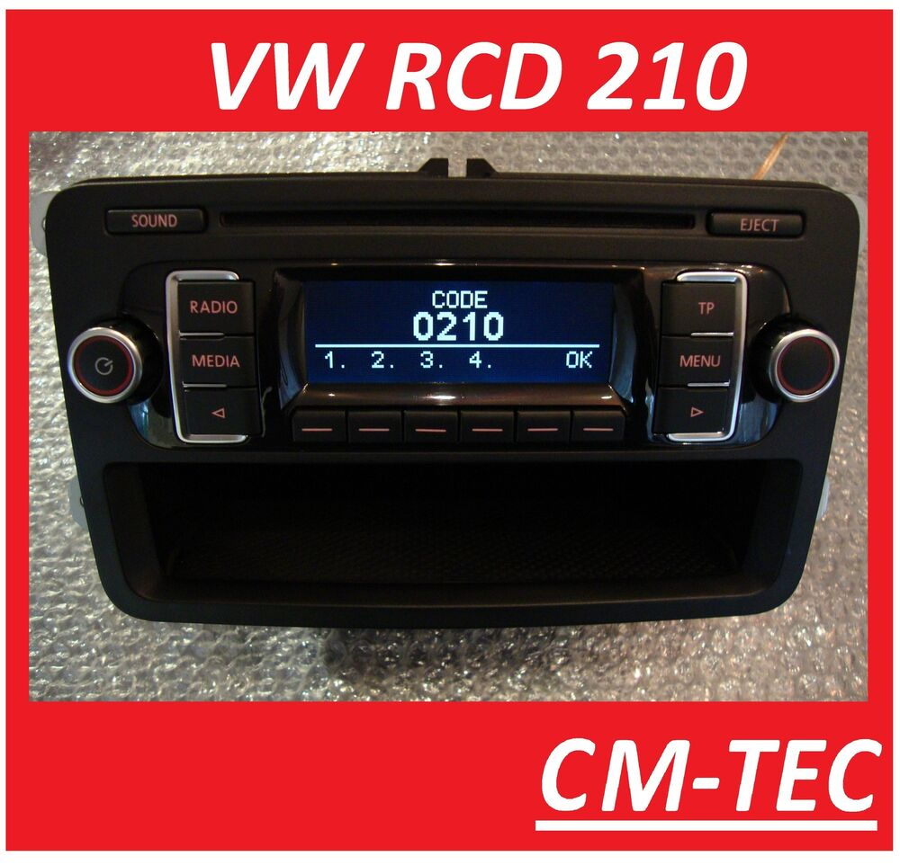 original vw rcd 210 radio cd mp3 rcd210 golf vi polo. Black Bedroom Furniture Sets. Home Design Ideas