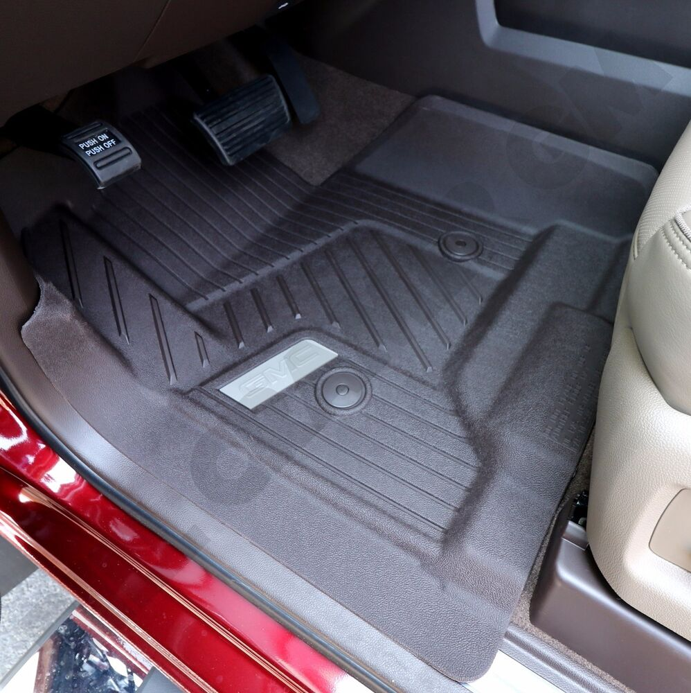 2015 2019 Gmc Canyon Extended Cab Gm Front Rear All: 2015-2018 GMC Sierra GM OEM Front All-Weather Floor Mats