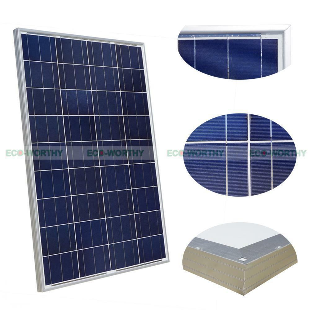 100w 12v solarpanel solarmodul photovoltaik solarzelle neu poly zellen 100 watt ebay. Black Bedroom Furniture Sets. Home Design Ideas