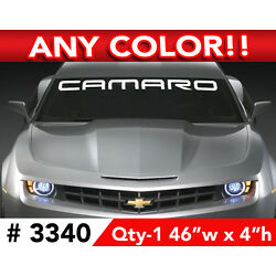 CHEVY '' CAMARO '' WORD  RS SS WINDSHIELD DECAL STICKER 46''w x 4''h ANY 1 COLOR