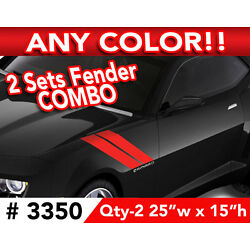 CHEVY CAMARO SS RS FENDER STRIPES DECAL STICKER 25''w x15''h ANY 1 COLOR