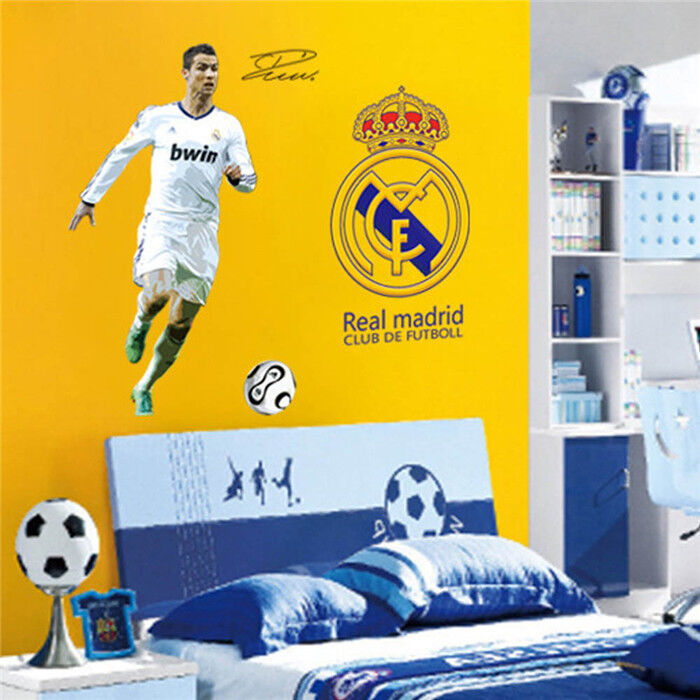 Wall Decor C Ronaldo Real Madrid Football Boy Bedroom