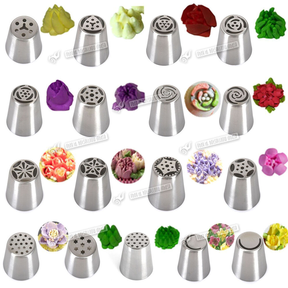 Cake Decorating Nozzle Guide : NEW Arrival Russian Flower Icing Piping Nozzles Tips ...