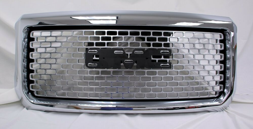 2015-2016 GMC Sierra HD GM OEM Chrome HD Denali Grille NEW ...