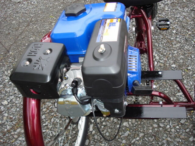Convert your trike into gas powered 3 wheel scooter with for Gas powered motorized scooter