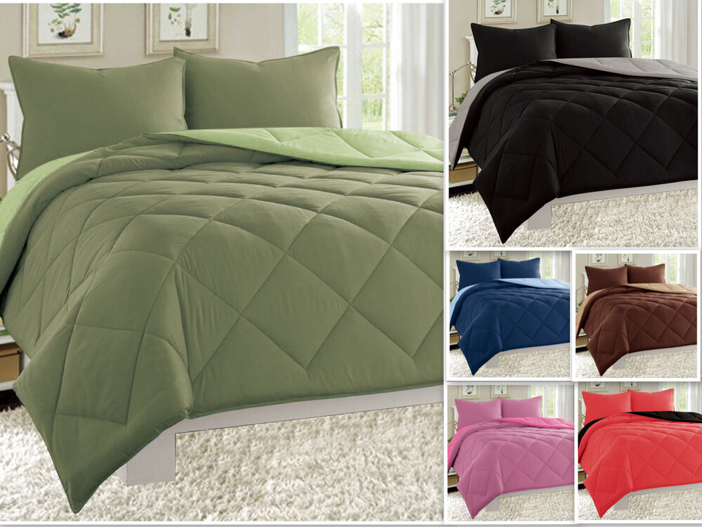 down alternative comforter reversible comforter set alternative 3 bedding 31116