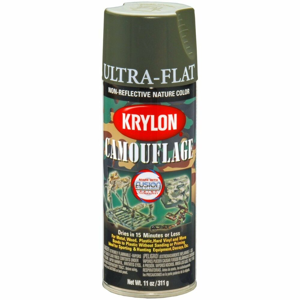 Krylon 4293 Olive Camouflage Military Colors Spray Paint Aerosol 12oz Ebay