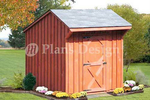 6 X 6 Playhouse Or Garden Storage Shed Saltbox Roof