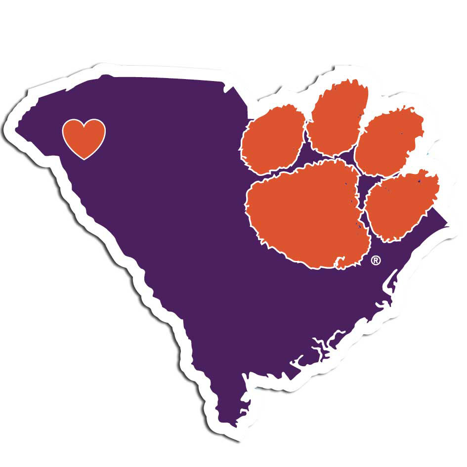 State Decal Tigers Home (South Vinyl NCAA Clemson  Auto