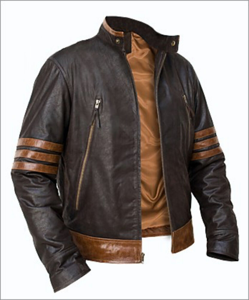 X Men Wolverine Origins Bomber Style Brown Real Leather