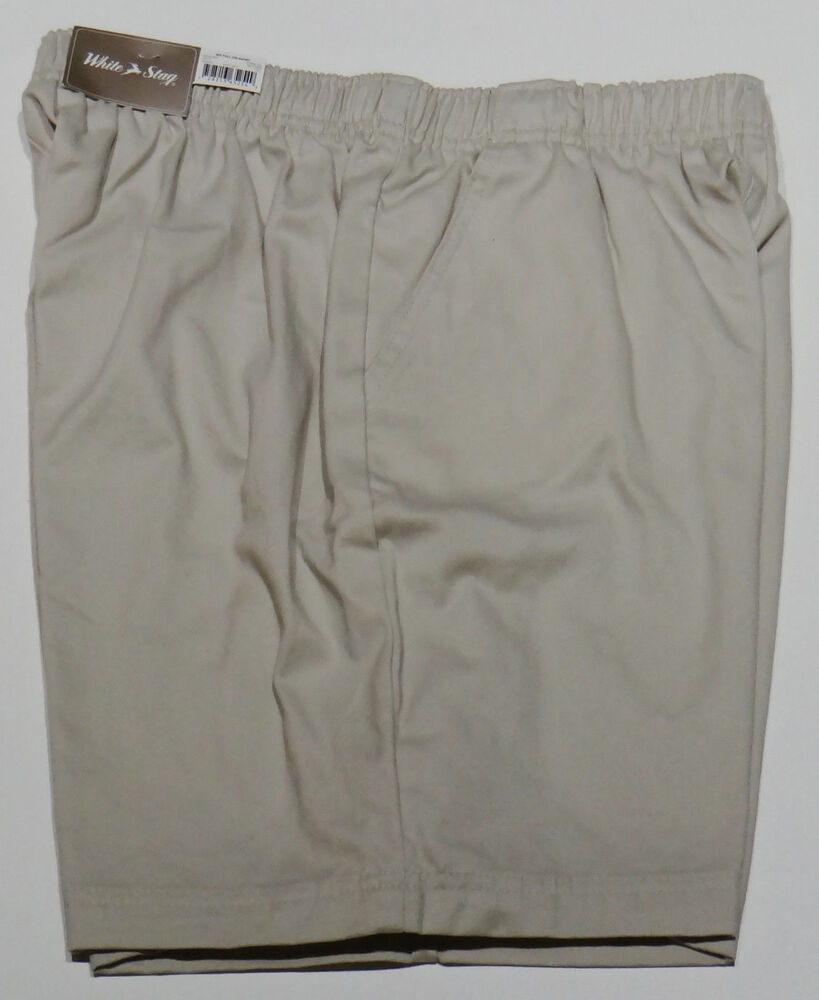 Womens pull on cotton shorts small ebay for Women s fishing shorts