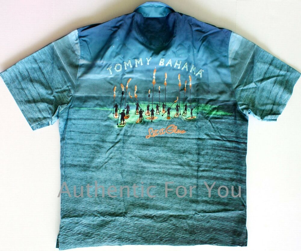 Collector 39 s edition tommy bahama let it glow panel back for Tommy bahama christmas shirt 2014