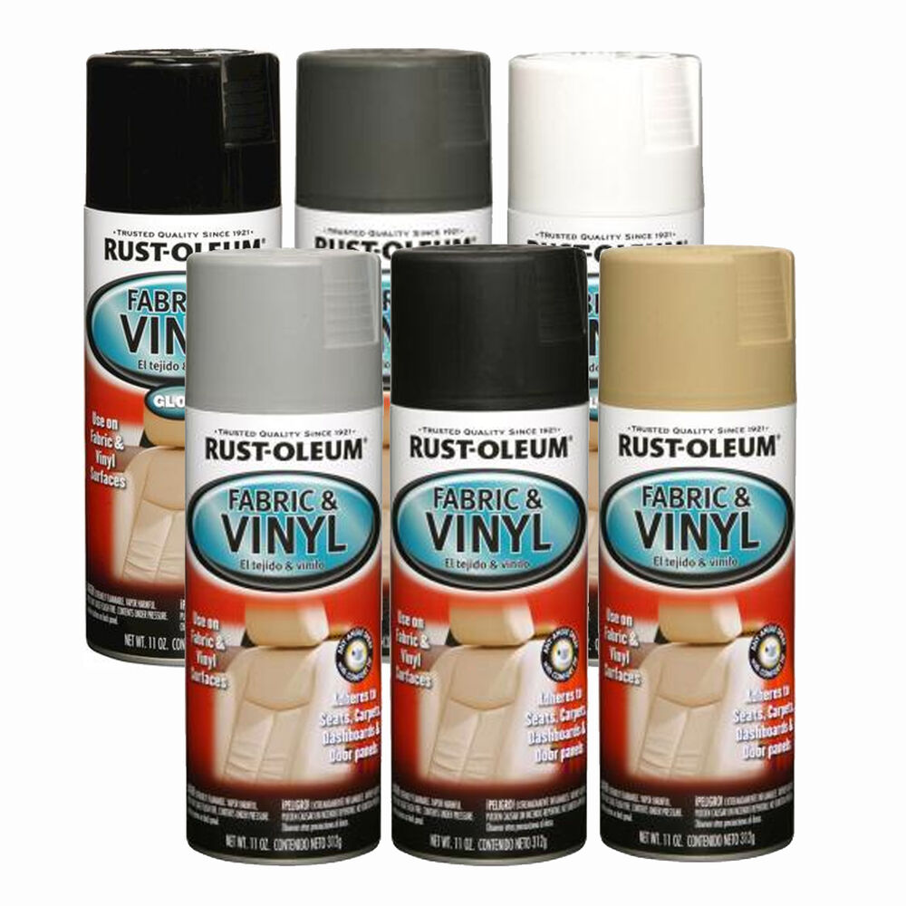 rust oleum fabric vinyl spray paint car seats dashboards door panels lounges ebay. Black Bedroom Furniture Sets. Home Design Ideas