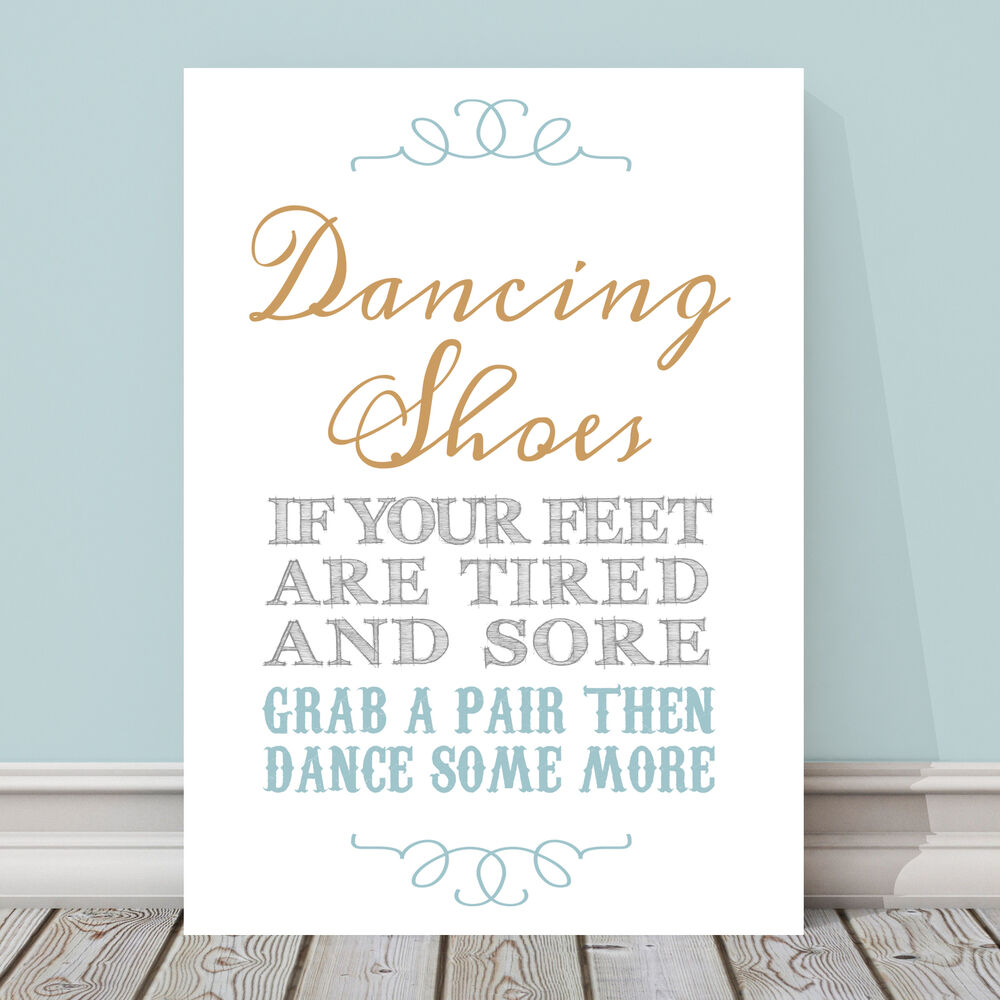 336f0275f Details about Gold and Blue Dancing Shoes Wedding Flip Flop Basket Table  Sign 3 FOR 2 GB9