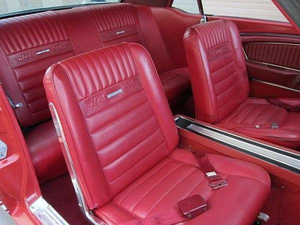 Ford Mustang Deluxe Pony Seat Trim Kit Bright Red 64 65 66 1964 1965 Convertible Ebay