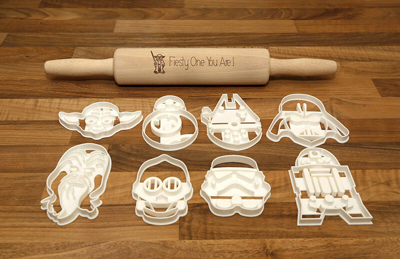 Star Wars Cookie Cutters X8 And A Laser Engraved Star Wars