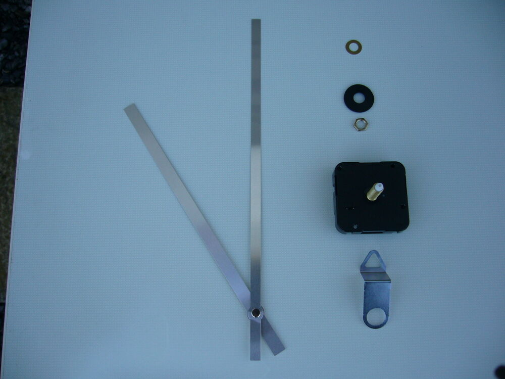 High Torque Clock Movement Extra Long Spindle 250mm Silver