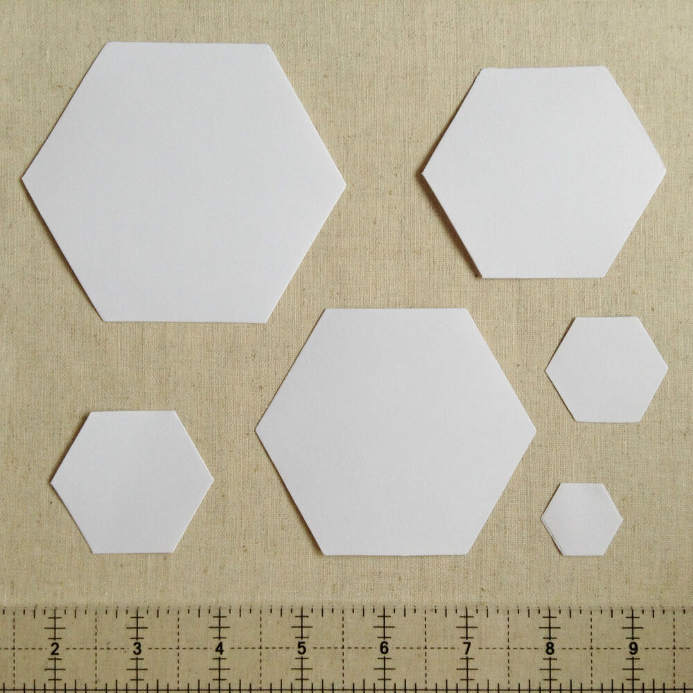 Paper Piecing Templates For Quilting : 250 English Paper Piecing Hexagon Templates Different Size Options Available eBay